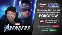 Nonton Game Bareng Marvel's Avengers bersama Pokopow di Vidio. (Sumber: Vidio)