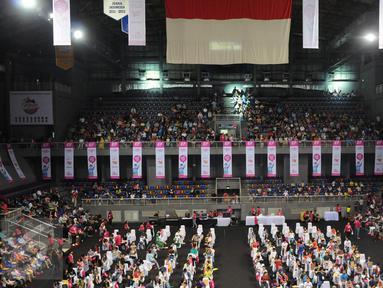 Suasana di Mahaka Square saat berlangsungnya acara EF National Competition Spelling Bee 2016 di Jakarta, Minggu (27/11). (Liputan6.com/Helmi Afandi)