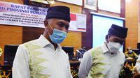 Gubernur dan wakil gubernur sumatera Barat terpilih, Mahyeldi-Audy Joinaldy. (liputan6.com/ Novia Harlina)