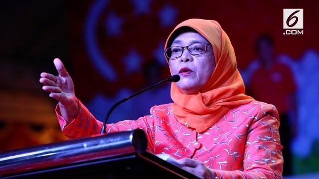Halimah Yacob, Presiden perempuan pertama Singapura pernah berjualan nasi padang di Singapura