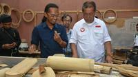 Calon Gubernur Jawa Barat Deddy Mizwar berjanji mengembangkan industri ekonomi kreatif (Liputan6.com/Huyogo Simbolon)