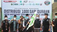Peluncuran Program Distribusi 1000 Sapi Qurban untuk masyarakat terdampak pandemi Covid-19 di Jawa-Bali.