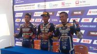 Para pemenang di kelas YCR 1 pada Yamaha Cup Race Singkawang (Liputan6.com/Windi Wicaksono)