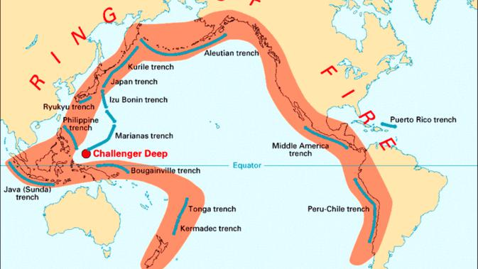 Indonesia Ring of Fire (Wikipedia)