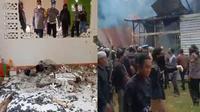 Sekelompok orang merusak dan membakar masjid jemaat Ahmadiyah di Sintang, Kalimantan Barat. (Liputan6.com/ Aceng Mukaram)