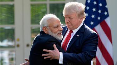Sambangi Donald Trump, PM India Bahas Kelompok Militan di Perbatasan