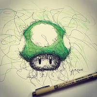 Bermula dari coretan benang kusut, seniman ini bikin gambar yang tak terduga.  (Via: boredpanda.com)