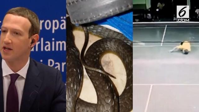 Video Hit kali ini hadir dari berita penyesalan Zuckerberg atas penyalahgunaan data Facebook, ular di tumpukan ikat pinggang, dan pria yang meninggal saat main bulutangkis.