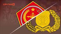 Ilustrasi lambang TNI dan Polri (Liputan6.com / Abdillah)