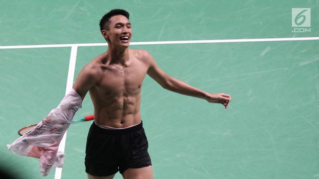 Jonatan Christie Raih Emas Asian Games