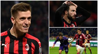Angka sembilan kramat di AC Milan karena belum ada striker yang sukses memakai nomor itu setelah Filippo Inzaghi, namun hal itu tidak membuat Krzysztof Piatek takut untuk memilihnya. Berikut tujuh striker nomor punggung sembilan yang gagal bersinar di AC Milan. (Kolase foto dari AFP)