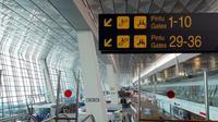 Pintu masuk penerbangan internasional di Bandara Soetta. (Liputan6.com/Hairil Hiar)