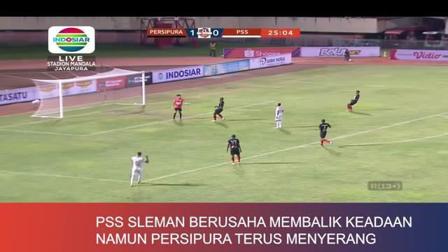Berita video match review Shopee Liga 1 2019 antara Persipura Jayapura melawan PSS Sleman di Stadion Mandala, Jumat (31/5/2019).