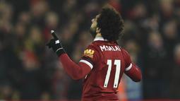 2. Mohamed Salah (Liverpool) - 19 Gol (1 Penalti). (AFP/Oli Scarff)