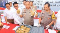 Pengantar 12 Kg Sabu untuk pesta tahun baru di Banjarmasin diringkus polisi. (Dok.Polisi)