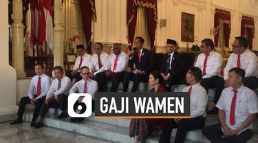 Presiden Jokowi melantik 12 wakil menteri. Gaji wamen juga tertuang dalam PMK No 176/PMK.02/2015.