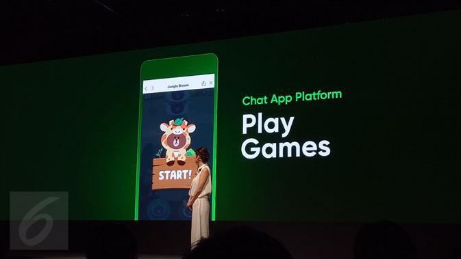 Nanti pengguna bisa main gim bersama di aplikasi Line. Liputan6.com/ Rita Ayuningtyas