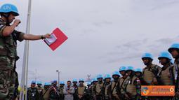 Citizen6, Minustah: Seluruh prajurit TNI yang tergabung dalam Kontingen Garuda XXXII-A/Minustah menerima pembekalan atau IT (Induction Training) dari Tim Minustah, Selasa (18/10). (Pengirim: Badarudin Bakri)