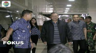Usai dijenguk BJ  Habibie, Mantan Presiden Susilo Bambang Yudhoyono sudah dibolehkan pulang dari Rumah Sakit Pusat Angkatan Darat (RSPAD) Gatot Subroto, Jakarta Pusat.