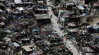 Rumah di Jeremie, Haiti, yang porak-poranda akibat badai Matthew (Reuters)