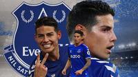 Everton - James Rodriguez (Bola.com/Adreanus Titus)