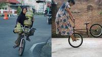 6 Aksi Emak-Emak Naik Sepeda Ini Atraktif Banget, Bikin Melongo (sumber: Instagram/irgirey 1cak)