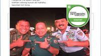 [Cek Fakta] Muncul Foto Panglima TNI dengan Pose 2 Jari, Dukung Prabowo-Sandi?