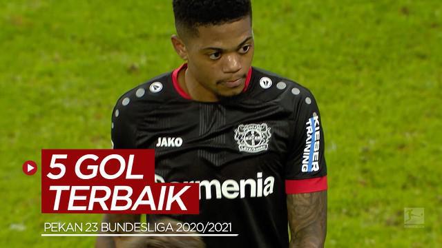 Berita video gol-gol terbaik yang tercipta pada pekan ke-23 Bundesliga 2020/2021, termasuk bintang Bayer Leverkusen, Leon Bailey.