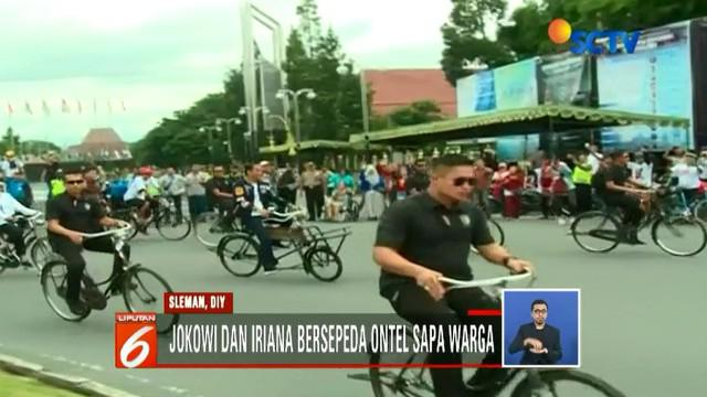 Joko Widodo dan Sandiaga Uno sama-sama bersafari politik di Sleman, Daerah Istimewa Yogyakarta, pada akhir pekan.