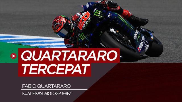 Berita video hasil kualifikasi MotoGP Jerez, Sabtu (1/5/21), Fabio Quartararo tercepat.