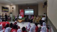 Kementerian PPPA sosialisasi dampak perkawinan dini di sekolah. (Ika Defianti/Liptutan6.com)