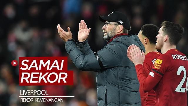 Berita video Liverpool menyamai rekor Manchester City setelah mengalahkan West Ham United 3-2 pada pekan ke-27 Premier League 2019-2020, Senin (24/2/2020).
