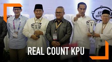 KPU masih terus melakukan real count hasil pilpres dan pileg 2019. Apakah hasil sementara siang ini masih dimenangkan Joko Widodo?