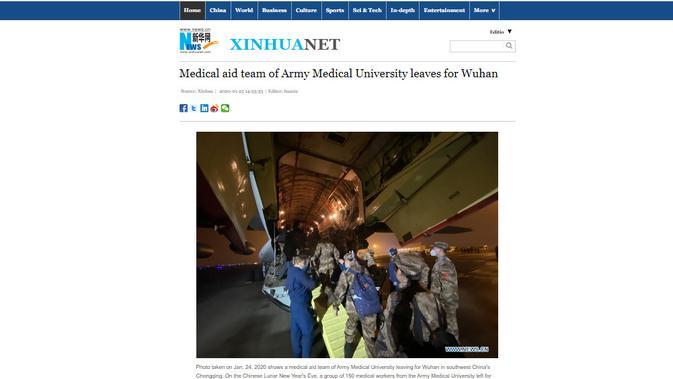 Cek Fakta: Dokter Israel Diklaim Bantu China Tangani Wabah Corona, Ini Faktanya (Xinhua)