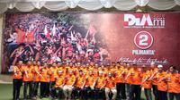 Komunitas PRO DP di batas kota Makassar target 70 persen suara untuk paslon petahana Pilkada Makassar (Liputan6.com/ Eka Hakim)
