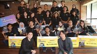 10 Finalis Vlog Competition Beswan Djarum 2017/2018 mengikuti talk show interaktif bersama YouTuber Kevin Hendrawan di Conclave, Jakarta Selatan, Minggu (16/9).