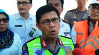 Kepala Korps Lalu Lintas Polri Irjen Royke Lumowa saat mengecek jalur mudik Lebaran 2018. (Liputan6.com/Nafiysul Qodar)