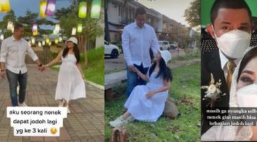 Beda Usia 20 Tahun, Viral Foto Prewedding Wanita 54 Tahun dengan Brondong