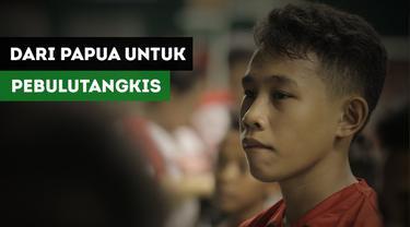 Muhammad Maslakil Akmal merupakan peserta terjauh yang mengikuti Audisi Umum Djarum Beasiswa Bulutangkis 2017