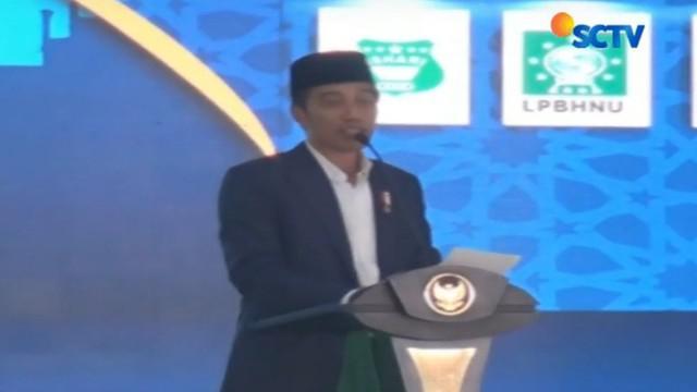 Presiden Jokowi membuka secara resmi kegiatan Munas Alim Ulama dan Konferensi Besar Nahdlatul Ulama (NU) di Mataram.