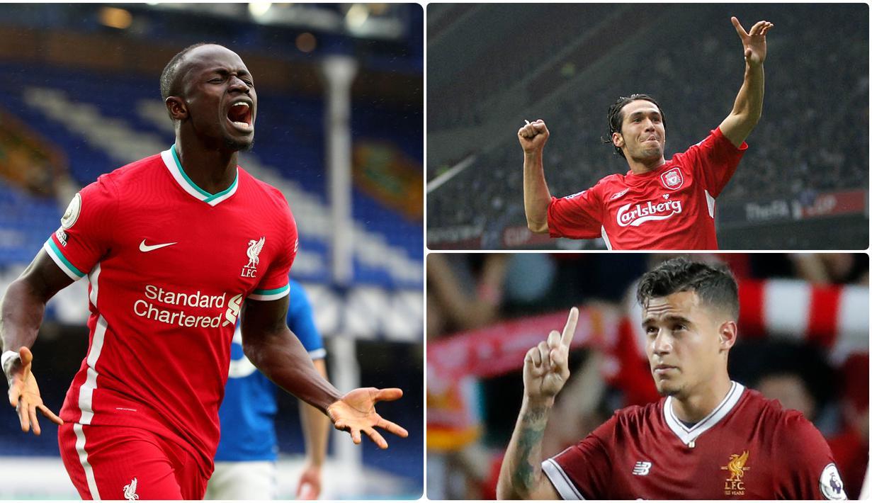 Sadio Mane dianggap memang pantas untuk mengenakan nomor punggung 10 di Liverpool. Ketajaman pemain asal Senegal ini menjadi pilar penting di lini serang tim asihan Jurgen Klopp saat ini. Berikut Sadio Mane dan pengguna nomor 10 di Liverpool. (kolase foto AP photo)
