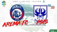Jadwal Liga 1 2018, Arema FC Vs PSIS Semarang. (Bola.com/Dody Iryawan)