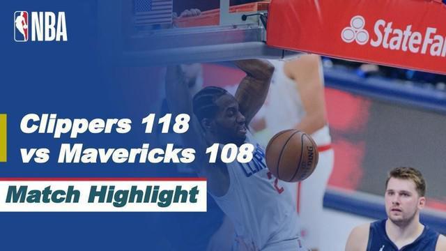 Berita Video Dallas Maveircks Vs LA Clippers pada Sabtu (29/5/2021) dengan skor akhir 108-118