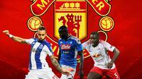 Manchester United - Alex Telles, Kalidou Koulibaly, Dayot Upamecano (Bola.com/Adreanus Titus)