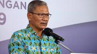 Juru Bicara Pemerintah untuk Penanganan COVID-19 di Indonesia, Achmad Yurianto saat konferensi pers Corona di Graha BNPB, Jakarta, Sabtu (13/6/2020). (Dok Badan Nasional Penanggulangan Bencana/BNPB)
