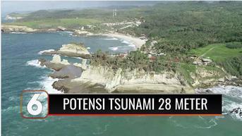 VIDEO: BMKG Prediksi Ada Potensi Tsunami Setinggi 28 Meter di Pacitan Jatim