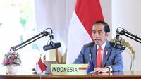 Presiden Jokowi saat menghadiri Konferensi Tingkat Tinggi (KTT) ASEAN-Australia secara virtual dari Istana Kepresidenan Bogor Jawa Barat, Sabtu (14/11/2020). (Foto Biro Pers Sekretariat Presiden)