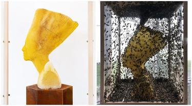 Dibuat dari Sarang Lebah Madu, Patung Ini Dibandrol Rp 649 Juta