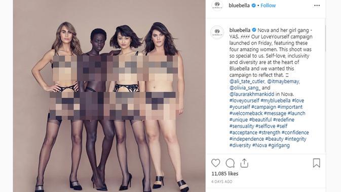Victoria's Secret x Bluebella (Screenshot Instagram @bluebella/https://www.instagram.com/p/B3R84halBbj/?hl=en/Putu Elmira)