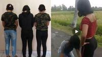 Polisi menangkap tiga orang pelaku aksi risak yang videonya viral di media sosial. (Istimewa)